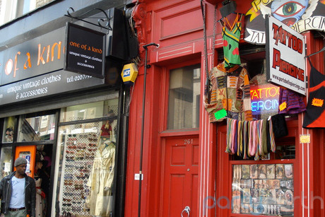 Portobello Road in London. As we learned in Bedknobs and Broomsticks, a great place to shop.