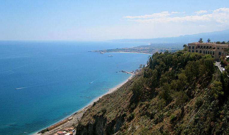 Cliffs in Sicily, Italy