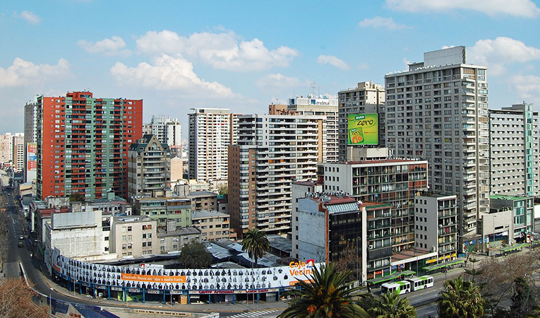Downtown of Santiago, Chile