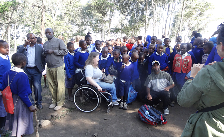 Children outside a school in rural Tanzania