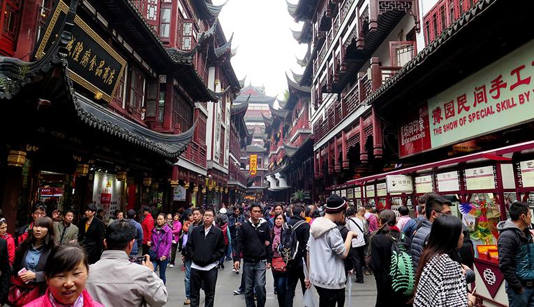 Downtown Shanghai, China
