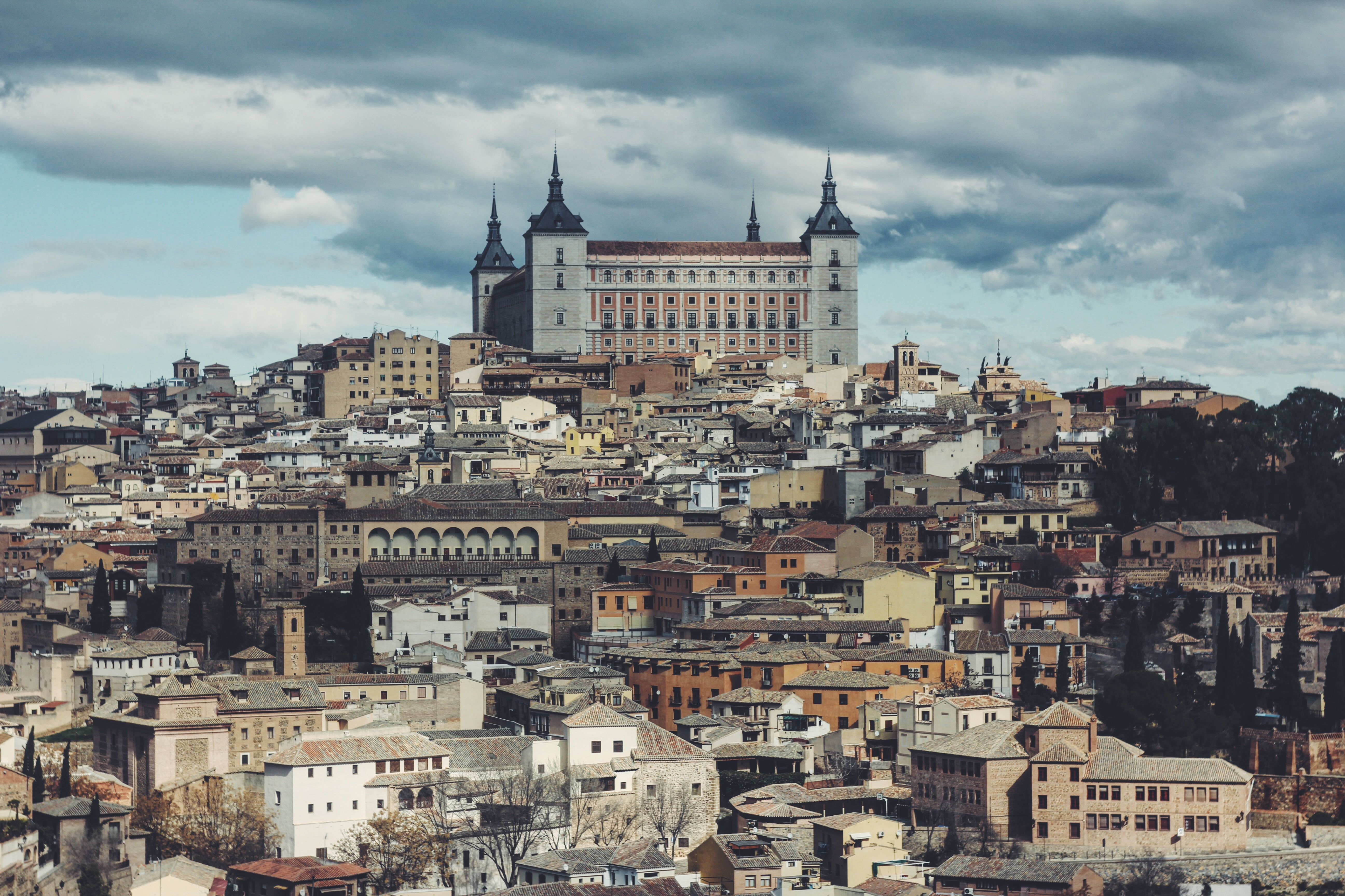 view of the castle in Toledo, Spain