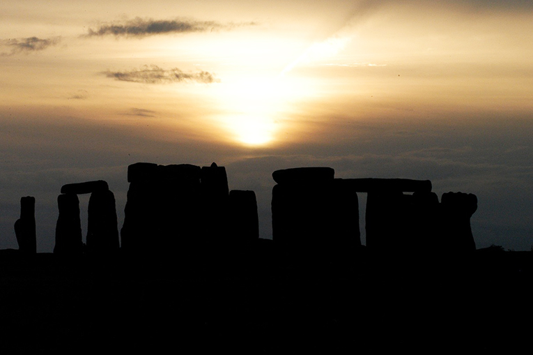 The Stonehenge at sunset