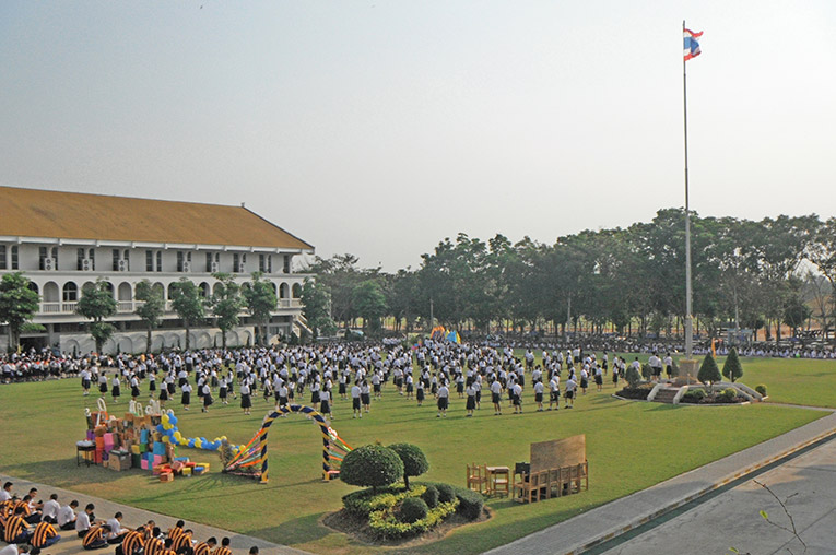Graduation day at a Thai school