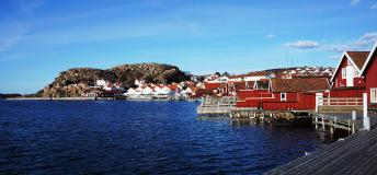 The picturesque coastal town of Lysekil, Sweden.