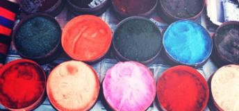 Dyes for sale in Bolivia.