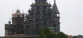 A wood church in Kizhi, Russia
