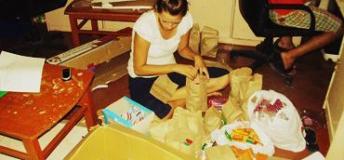 Sponsorship Program Intern, Preparing a Snack for Sponsored Children