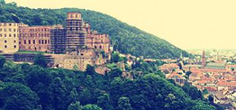 Charming Heidelberg tucked into lush green hillsides and vineyards