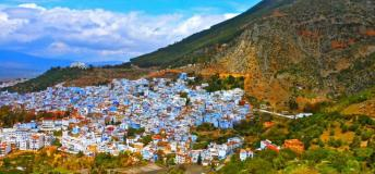 A view of Chefchaouen, situated in the Rif Mountains.