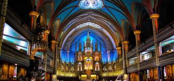 A glimpse inside the glorious Notre-Dame Basilica in Montreal.