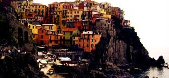 A beautiful view of Cinque Terre coast, Italy.
