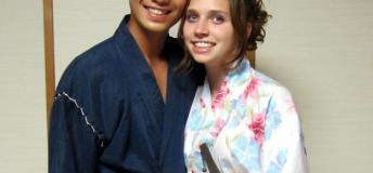 American woman with Japanese boyfriend