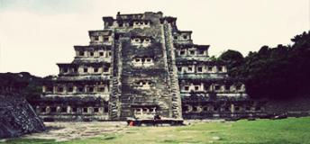 The epic architecture of el Tajín in the state of Veracruz, Mexico.