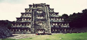 The epic architecture of el Tajín in the state of Veracruz, Mexico.
