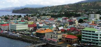 A general view of Roseau, the capital city of Dominica.