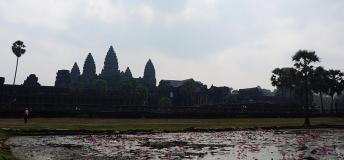 Angkor Wat, a Buddhist temple in Cambodia, is the largest religious monument in the world.