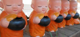 Figurine Buddhist Monks in Northern Thailand