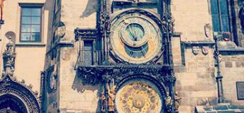 famous clock in Czech Republic