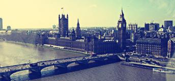 Iconic view of London, England