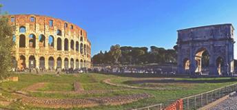 The amphitheatre in Rome.