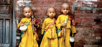 Little Nepalese monks