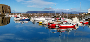 Quiet harbor in Iceland