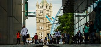 View of Tower Bridge, London, England