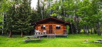 Cabin at Witt's End Guest Ranch in Lac la Hache, Canada