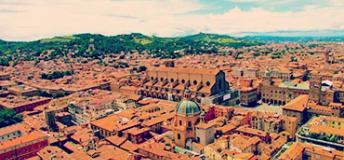 a bird's eye view of Bologna