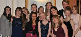 Students dressed in formal clothing in England