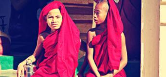 Monk boys in Myanmar.