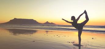 A girl doing a yoga pose