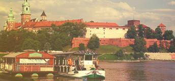 Motlawa River, Gdansk City, Poland