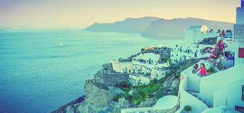 Santorini in Oia, Greece