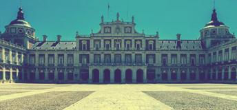 A palace in Madrid, Spain