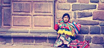 A local girl in Cusco, Peru.