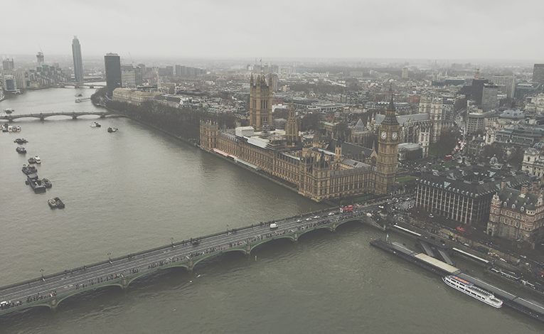 London, the Thames from above