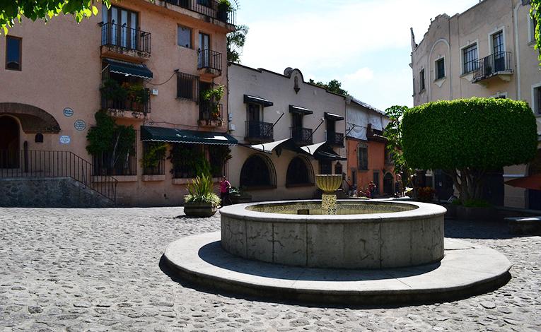 Plaza with a fountain in Cuernavaca, Mexico