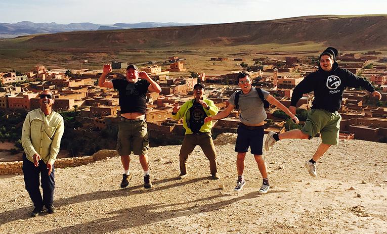 Jump shot in Morocco