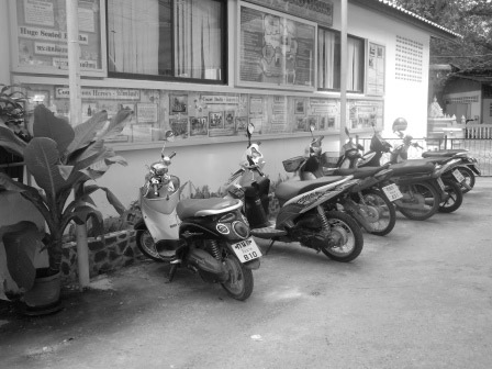 Motorbikes in AngThong, Thailand