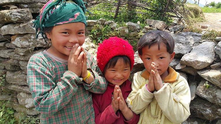 Children in Jharlang Village