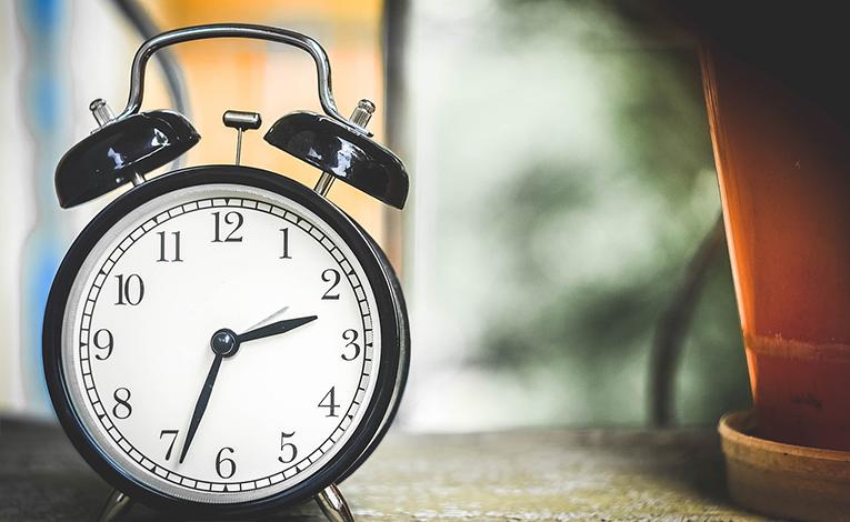 Close up of an old alarm clock