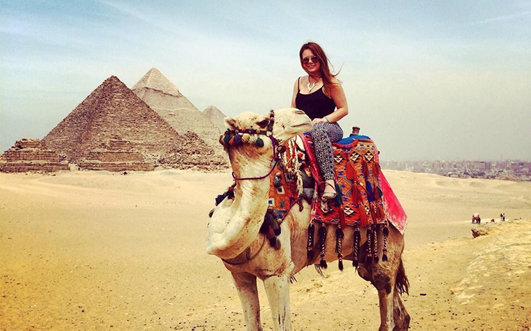 Camel riding in Egypt