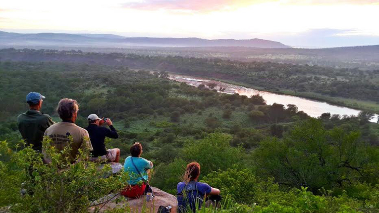 People enjoying the view in South Africa